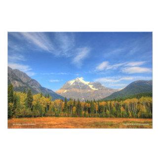 Mt. Robson, impresión de la foto de la Columbia Br