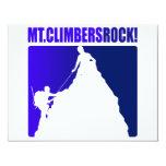 """Mt. ¡Roca de los escaladores! Invitación 4.25"""" X 5.5"""""""