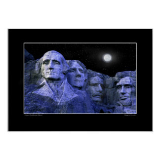 Mt Rushmore and the Full Moon Poster