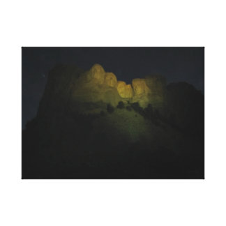 Mt. Rushmore at Night Canvas