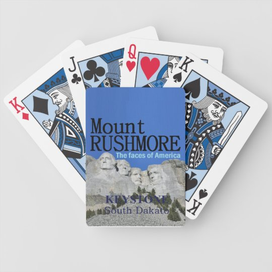 Mt. Rushmore Bicycle Playing Cards