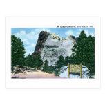 Mt. Rushmore, Black Hills, South Dakota Postcard