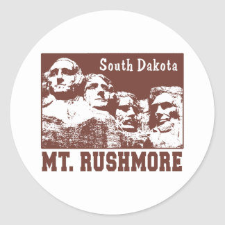 Mt. Rushmore Classic Round Sticker