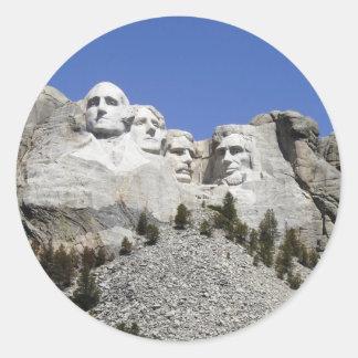 Mt Rushmore Classic Round Sticker