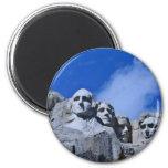 Mt. Rushmore Landmark 2 Inch Round Magnet