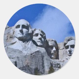 Mt. Rushmore Landmark Classic Round Sticker
