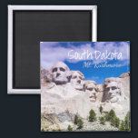 """Mt Rushmore Magnet<br><div class=""""desc"""">Find yourself in South Dakota. Find adventure in this northern state in the Midwest and explore points of interests that boost tourism in the state that includes Mt. Rushmore, Crazy Horse and culture found nowhere else in the United States. This greeting card features photographs featuring South Dakota landscapes and iconic...</div>"""