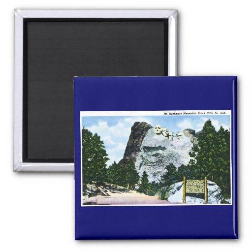 Mt. Rushmore Memorial, South Dakota 2 Inch Square Magnet