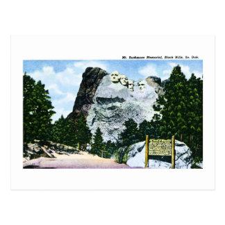 Mt. Rushmore Memorial, South Dakota Postcard