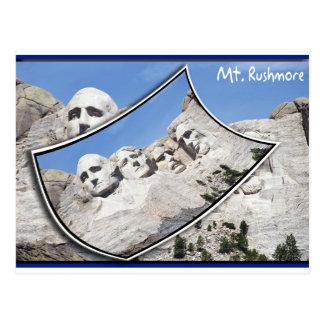 MT Rushmore - Scenic Postcard Curled