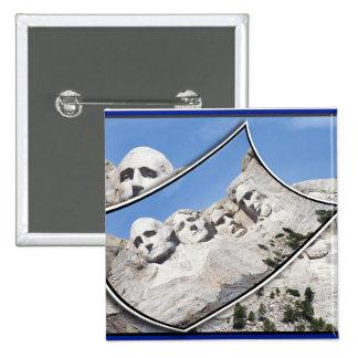 MT Rushmore - Scenic Postcard Curled Pinback Button
