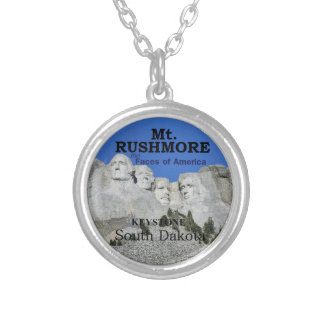 Mt. RUSHMORE Silver Plated Necklace