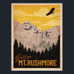 """Mt. Rushmore, South Dakota Postcard<br><div class=""""desc"""">Anderson Design Group is an award-winning illustration and design firm in Nashville,  Tennessee. Founder Joel Anderson directs a team of talented artists to create original poster art that looks like classic vintage advertising prints from the 1920s to the 1960s.</div>"""