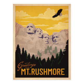 Mt. Rushmore, South Dakota Postcard