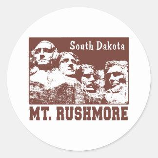 Mt. Rushmore Classic Round Sticker
