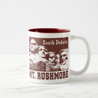 Mt. Rushmore Two-Tone Coffee Mug