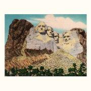Mt. Rushmore Vintage Postcard
