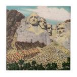 Mt. Rushmore Vintage Small Square Tile