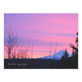 Mt. Salida del sol del invierno de la capilla Arte Fotográfico