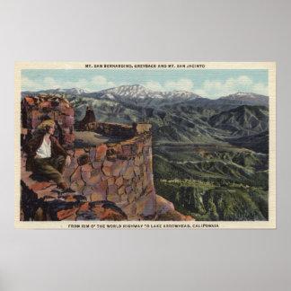Mt. San Bernardino, borde O el mundo Hwy Póster