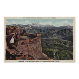 Mt. San Bernardino, Rim O' The World Hwy Poster