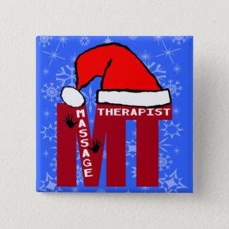 MT SANTA - MASSAGE THERAPIST CHRISTMAS SANTA BUTTON