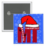 MT SANTA - MASSAGE THERAPIST CHRISTMAS SANTA PIN