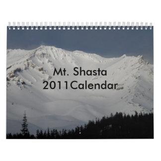 Mt. Shasta 2011Calendar Calendario De Pared