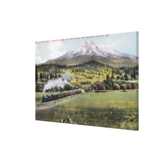 Mt. Shasta and Southern Pacific Rail Canvas Prints