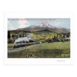 Mt. Shasta and Southern Pacific Rail Postcard