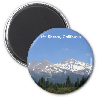 Mt. Shasta, California Imán Redondo 5 Cm