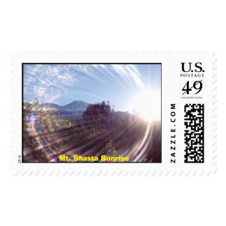 Mt. Shasta Sunrise Stamps