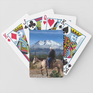 MT SHASTA WITH HORSE AND RIDER BICYCLE PLAYING CARDS