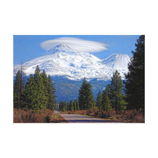 MT SHASTA WITH LENTICULAR STRETCHED CANVAS PRINT