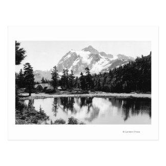 Mt. Shuksan and Mt. Baker Lodge Photograph Postcard