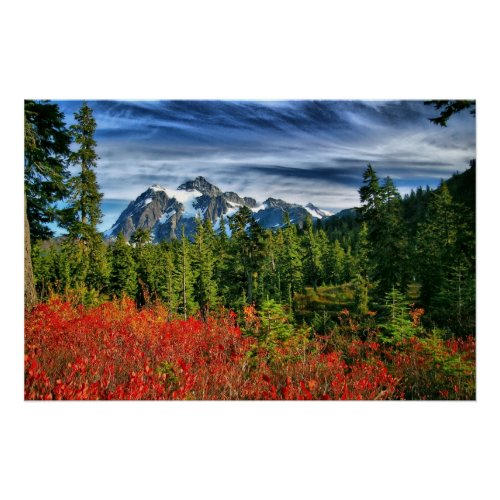 Mt Shuksan Autumn HDR print