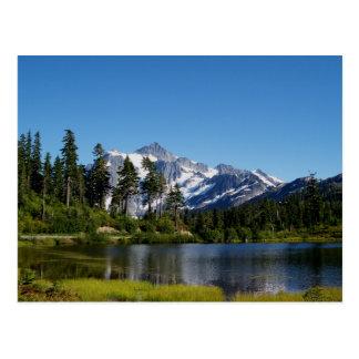Mt Shuksan del lago picture Postal