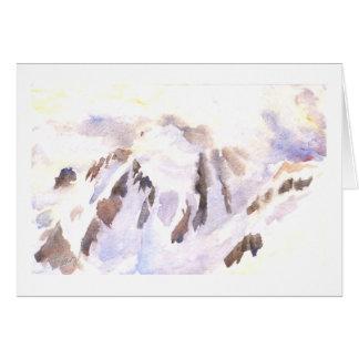 Mt. Shuksan en nieve y niebla Tarjeta De Felicitación