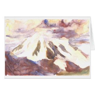 Mt. Shuksan, facing storms together Greeting Card