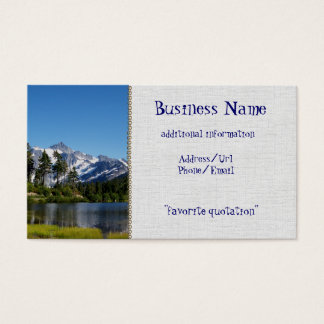 Mt Shuksan From Picture Lake Business Card