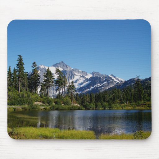 Mt Shuksan From Picture Lake Mouse Pad