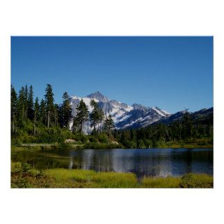 Mt Shuksan From Picture Lake Poster