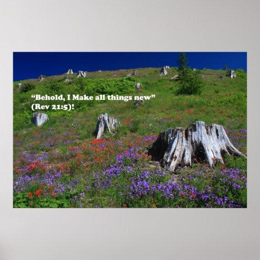 Mt. St. Helen's at Johnston Ridge Renewal of Life Poster