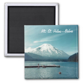 Mt. St. Helens--Before 2 Inch Square Magnet
