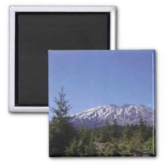 Mt. St. Helens on Sunny Day Photograph Magnet