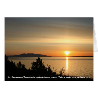 Mt. Susitna across Turnagain Arm outs... Card