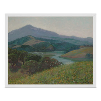 Mt. Tamalpais de la cala de Corte Madera (1153) Posters