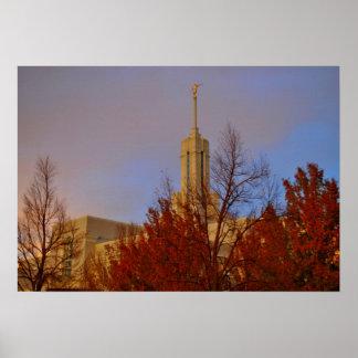 Mt. Timpanogos  LDS Temple American Fork, Utah Poster