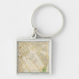 Mt Vernon 1 Silver-Colored Square Keychain