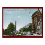 Mt. Vernon Place, Baltimore 1910 Vintage Post Card